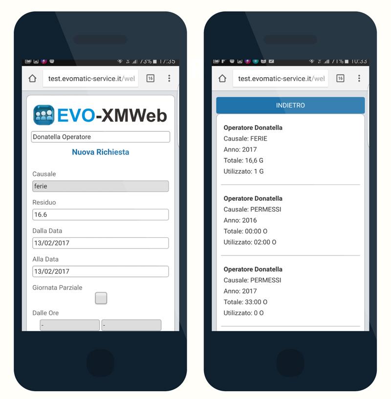 Gestione e monitoraggio presenze in tempo reale EVO-XMWeb