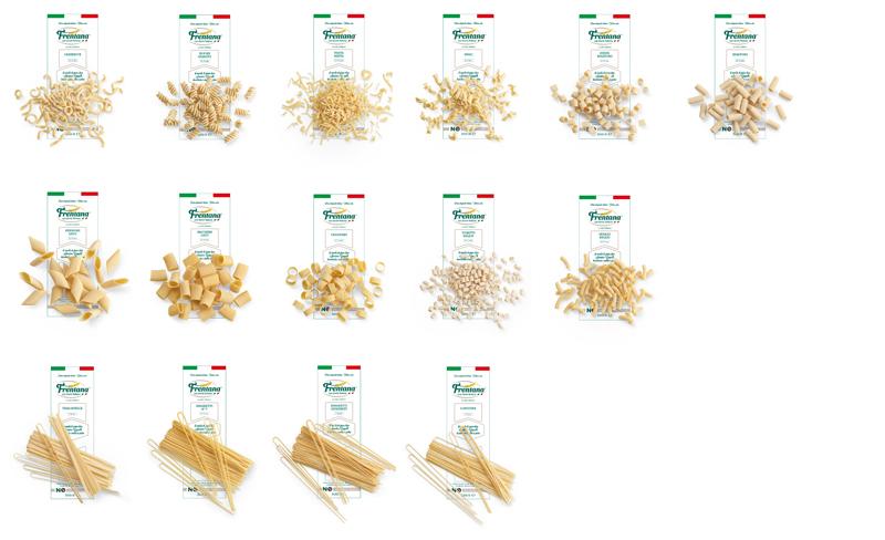 Pasta di semola di grano duro Senatore Cappelli decorticato e molito a pietra