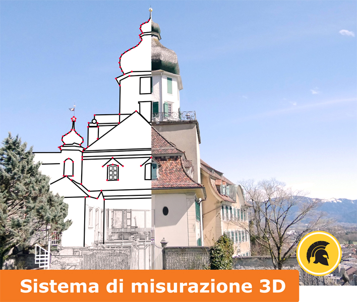 Sistema di misurazione 3D per ambienti interni ed esterni