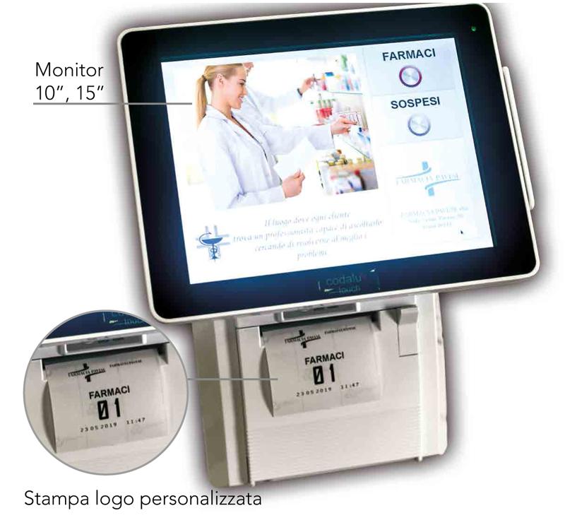 Distributore ticket Codalux Touch Modello A Wall