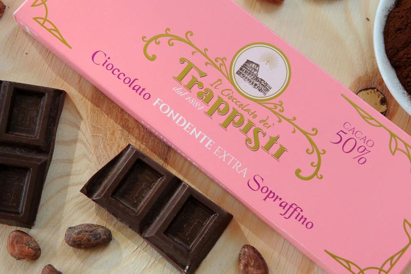 Tavolette di cioccolato extra fondente - cacao 50%