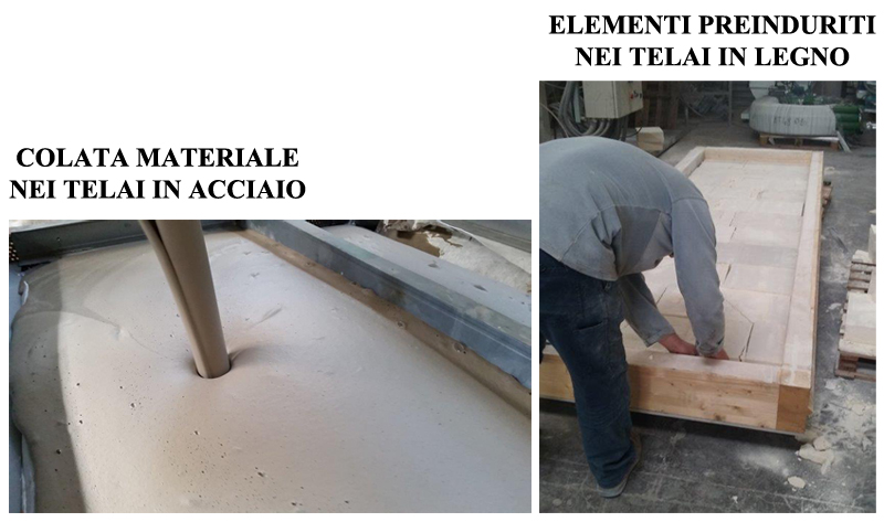Pannelli a telaio in legno o acciaio