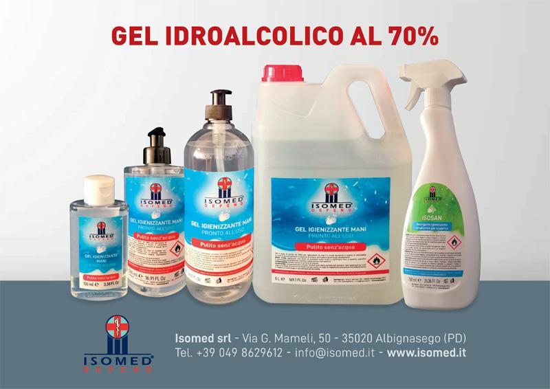 Gel idroalcolico 70% per mani e superfici