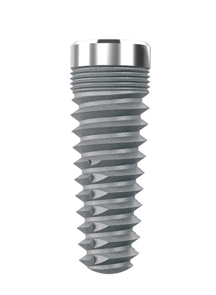 Impianti in titanio conici esagono interno transmucosi spirale media
