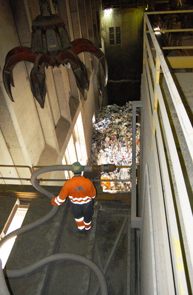 Pulizie negli inceneritori di rifiuti