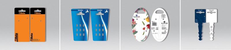 Cartellini personalizzati in plastica