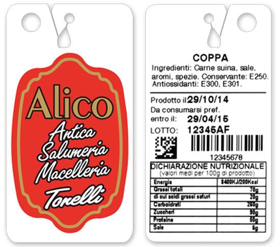 Etichetta certificata per identificazione e codifica del prodotto