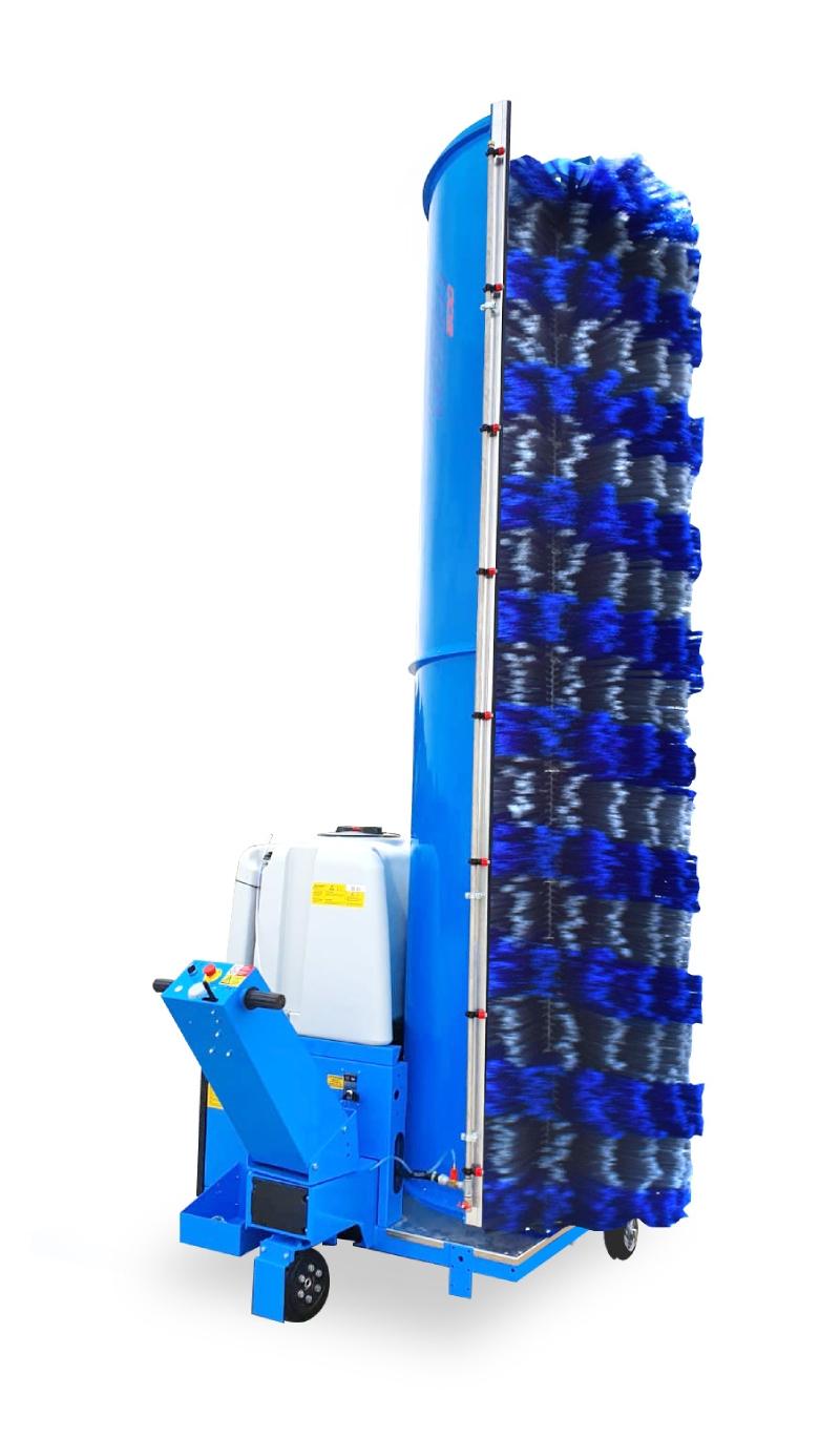 Sistema di lavaggio monospazzola Truck Wash con operatore a terra