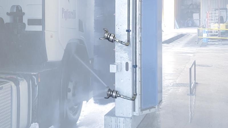 Teste rotanti per impianto di lavaggio a portale Omega Wash