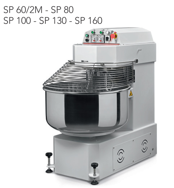 Impastatrici a spirale SP60-2m - SP80 - SP100 - SP130 - SP160