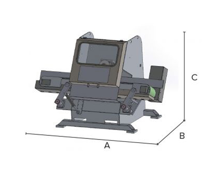 Taglio pietre irregolari in linea S1 Mini - dimensioni di ingombro