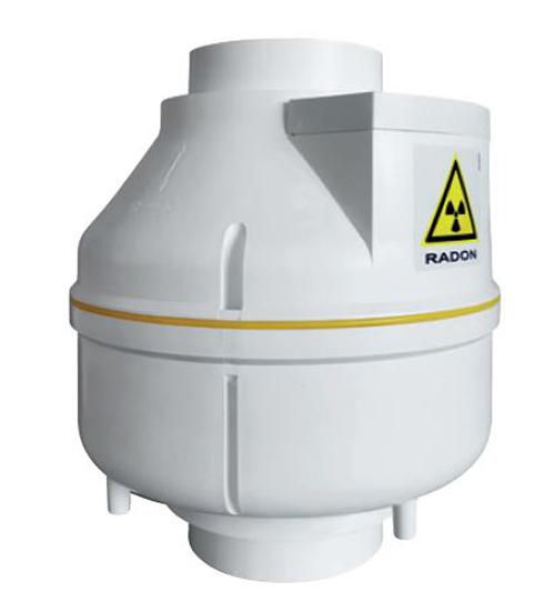Aspiratori centrifughi da condotto per mitigazione gas Radon