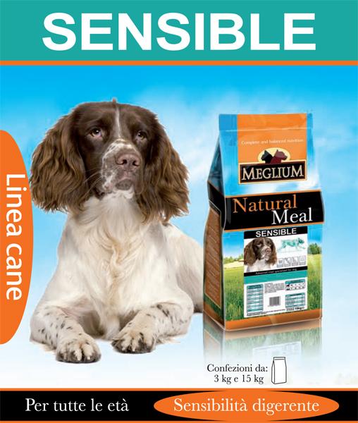 Alimento per cani con sensibilità digerenti