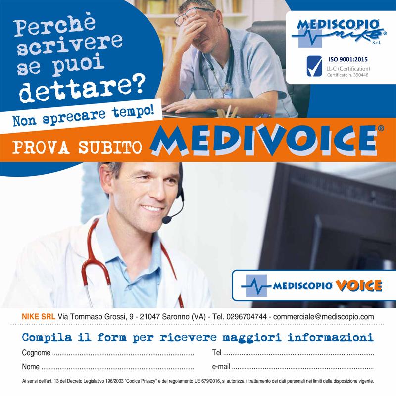 Software vocale di medicina del lavoro con inserimento nella cartella sanitaria