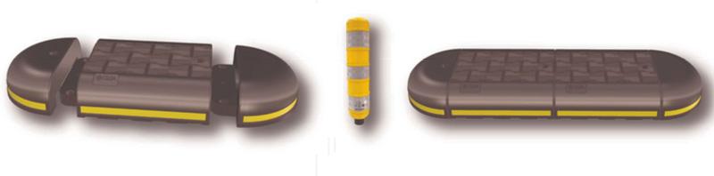 Cordolo in plastica riciclata per piste ciclabili