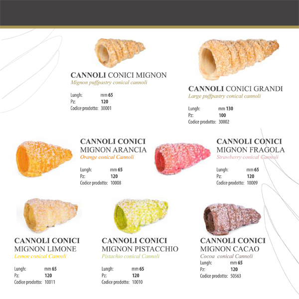 Cannoli conici