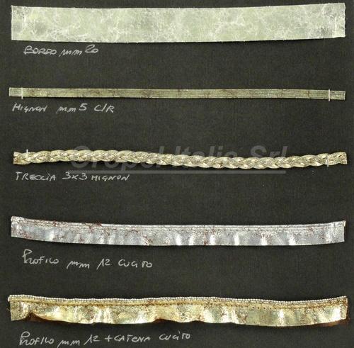 Profili, trecce e mignon in materiali sintetici