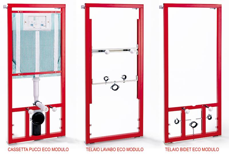 Telaio universale per cassetta wc pucciplast for Cassetta wc esterna sottile