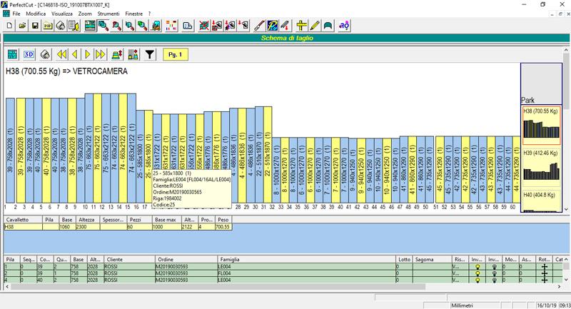 Software per la gestione dei cavalletti ad arpa Perfect Rack Harp