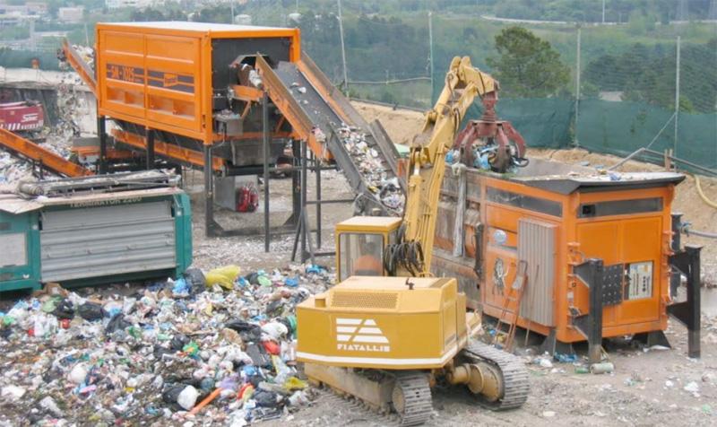 Servizio mobile trattamento rifiuti
