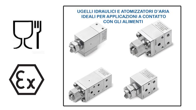Ugelli idraulici ed atomizzatori d'aria JAU D55500