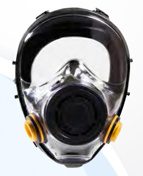 Maschera panoramica a due filtri