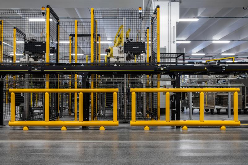 Protezione area di produzione e nastri trasportatori