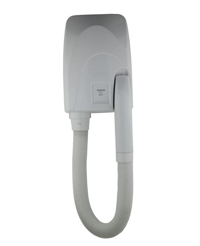 Asciugacapelli con tubo estensibile da parete Art. TDL/1