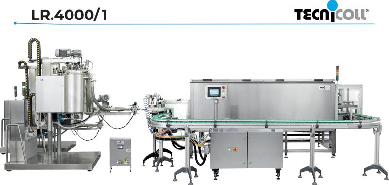 Semi-automatic hot filling line LR.4000/1