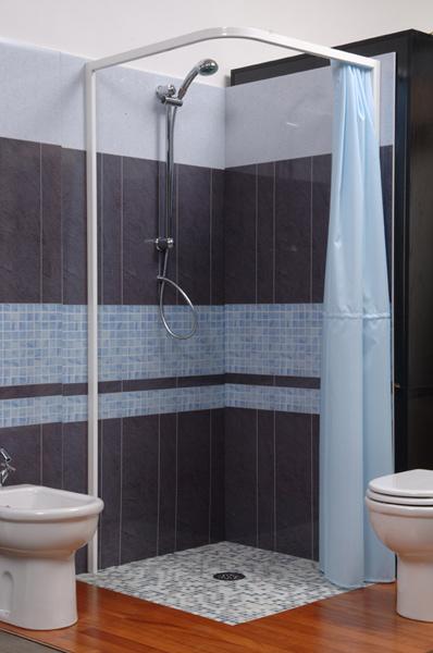 Box doccia per alberghi top project hotel - Box doccia con tenda ...