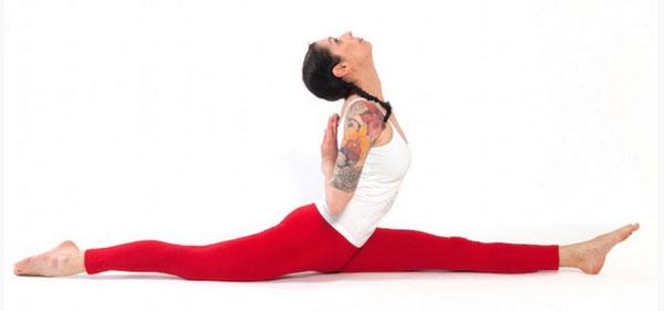 Legging rosso da yoga