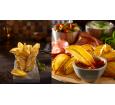 Crispers: patate con buccia dal taglio ondulato con rivestimento croccante