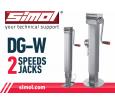 Piede di appoggio con meccanismo a doppia velocità DG-W SIMOL