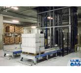 Impianti di movimentazione industriale per scatole e pallets