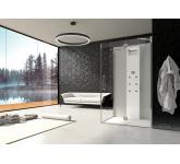 Stainless steel and glass shower enclosure 8 mm