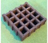 ECOGRID, переработанный резиновый продукт, квадратной формы для наружного использования