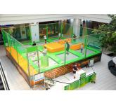 Mini trampoline park for shopping centers