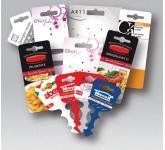 Custom cards in plastic and cardboard