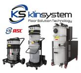 Industrial vacuum cleaners with automatic filter cleaning ASC
