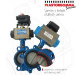 Butterfly valves for industrial applications