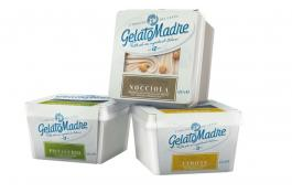 Gelato artigianale naturale confezionato GelatoMadre: Pistacchio, Nocciola e Limone