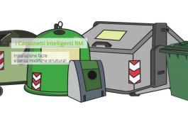 Cassonetti rifiuti con tecnologia ottica