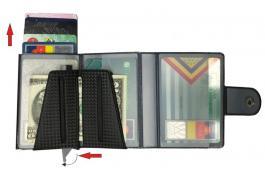 Portafoglio tascabile con protezione RFID Art. 1028SC WALLY CARBON