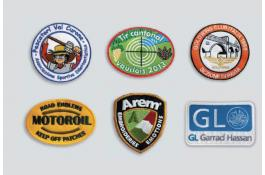 Patches ricamati termoadesivi