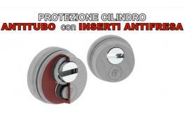 Protezione cilindro antitubo con inserti anti fresa