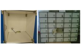 Storage systems: Lockable modular lockers