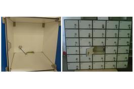 Sistemi portaoggetti: Armadietti modulari con serratura
