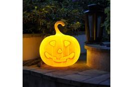 Pumpkin shaped lamp