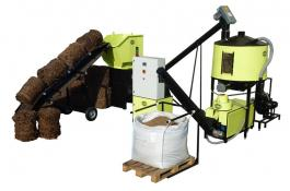 Pellet machine for pruning EPS Line