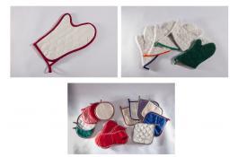Presine e guanti da forno trapuntati